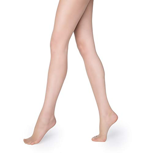 Marilyn Silky Soft Exclusive Luxe Line Pantyhose 15 Denier Made in Europe (XL, Nude) - Luxe Sheer Control Top