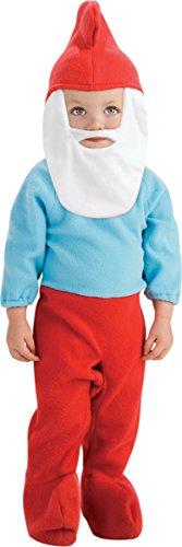 Baby Boy's Costume: Papa Smurf Newborn 0-6 Months