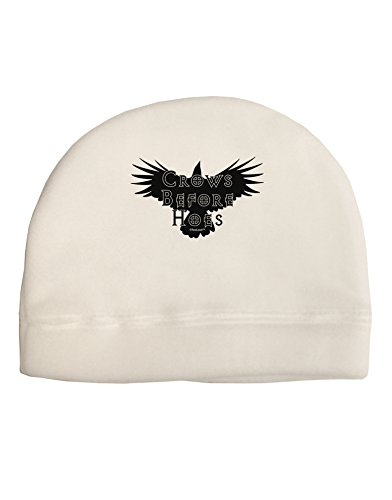 TooLoud Crows Before Hoes Design Adult Fleece Beanie Cap Hat