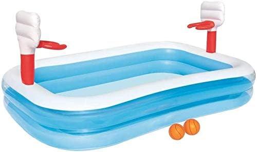 JLKPG 子供赤ちゃんインフレータブルプールバスケットボールベビースポーツプール子供水屋外インフレータブル緊縛プールバスタブガーデン屋外特大緊縛バースゲームプールクリスタル253 * 168 * 102CMを再生