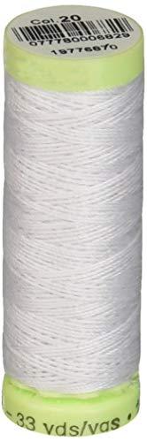 Gutermann Top Stitch Heavy Duty Thread 33 Yards-Nu White