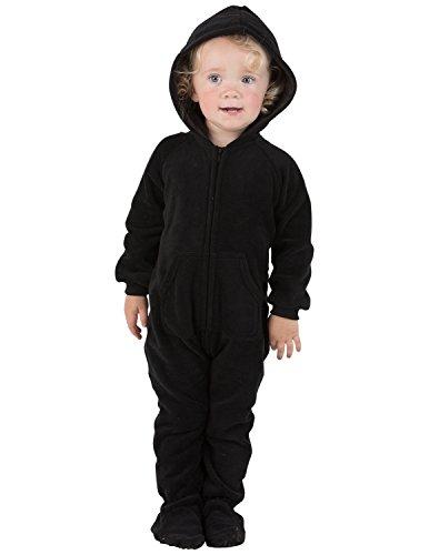 966365610 Jual Footed Pajamas - - Midnite Black Infant Hoodie Fleece Onesie ...