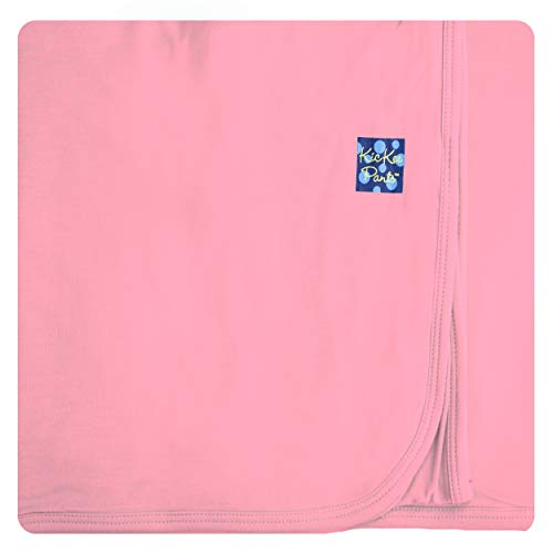 (KicKee Pants Baby Girls Basic Swaddling Blanket - Lotus, One)