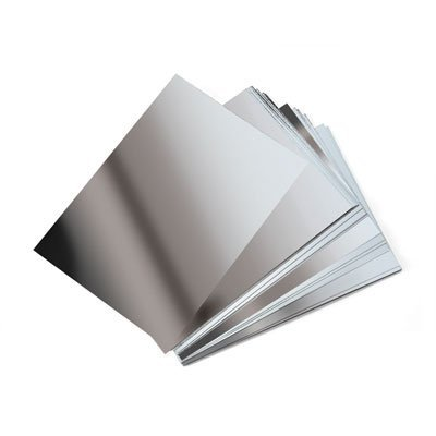 5 sheets of A5 silver mirror Board Card PP65