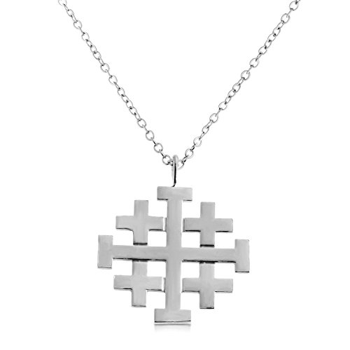 925-sterling-silver-jerusalem-crusaders-cross-pendant-necklace-16-inches