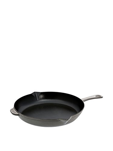 Staub Cast Iron Fry Pan-Graphite Grey, 12 Inches