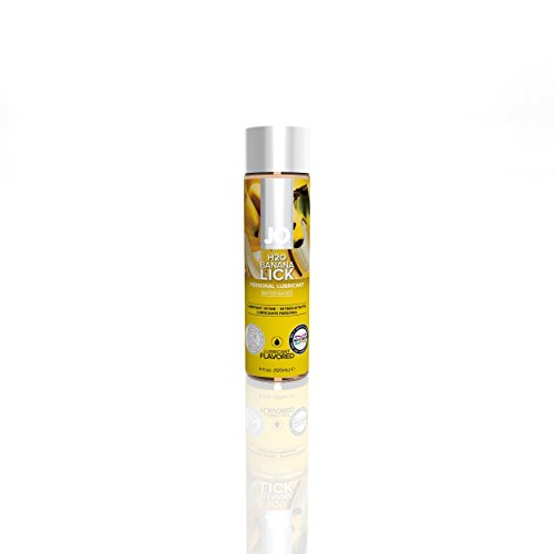 System JO H2O Flavored Lube Water Based Lubricant Banana Lick 4 Oz (NEW PACKAGE)
