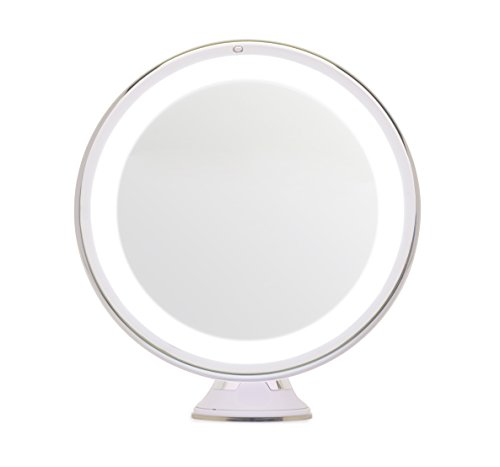 Mirrorvana 8-Inch 5X Magnifying LED Lighted Vanity Makeup Mirror
