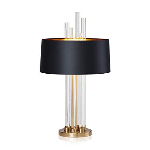 Lámpara de mesa lámpara de lujo moderna de vidrio diseñador sala de estar dormitorio cabecera tela panGröße iluminación para el hogar
