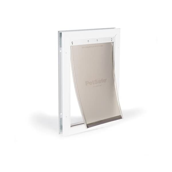 PetSafe Freedom Aluminum Dog Door or Cat Door – Solid Durable Frame, Flexible Tinted Magnetic Vinyl Flap with Slide-In…