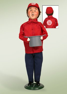 Byers' Choice Salvation Army Man with Soup Pot Figurine