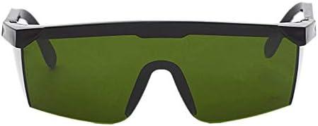 IBISHITAOXUNBAIHUOD Proteger láser marco Gafas de seguridad de PC de la lente de soldadura láser de ojos Gafas de protección Gafas Unisex Negro prueba de luz Lentes