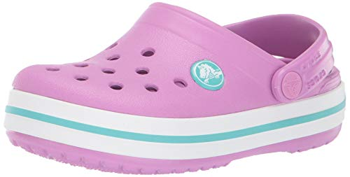 Crocs Unisex Kids' Crocband Clog, Violet/Pool, 5 M US Toddler