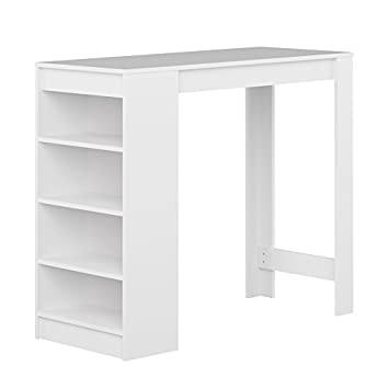 symbiosis 8080a2100x00 contemporain table bar avec rangements blanc 115 x 50 x 1027 cm