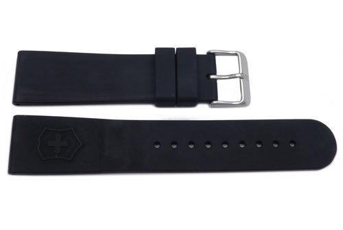 Genuine Swiss Army Black Rubber 22mm Maverick Series Watch Band ()