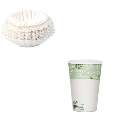 KITBUN1M5002DXE2346PLA - Value Kit - Dixie EcoSmart Hot Cups (DXE2346PLA) and Bunn Coffee Commercial Coffee Filters (BUN1M5002) by Dixie