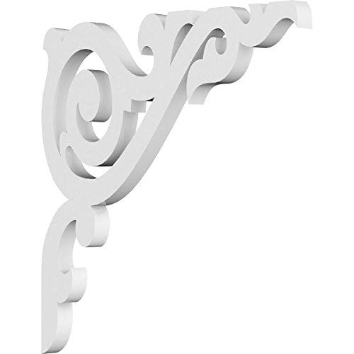 (Ekena Millwork BKTP01X10X10BA PVC Bracket, 5/8