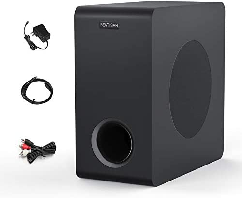 Powered Subwoofer, BESTISAN House Audio Bluetooth Subwoofer, Deep Base, Constructed-in Amplifier Wi-fi House Theater Subwoofer for TV, Soundbar, Optical/RCA/Bluetooth (6.5 Inch, Black)