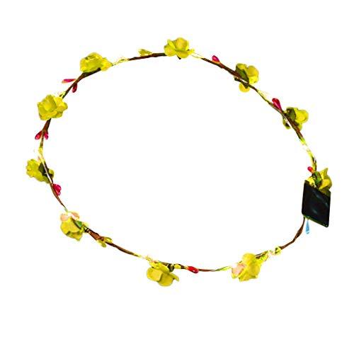 - iNoDoZ Light Up Bright Flash Glowing Headband for Women El LED Club Party Concert Flexible Headwear Yellow