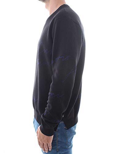 Armani Noir homme pull blu Emporio 8zwHTZqxw
