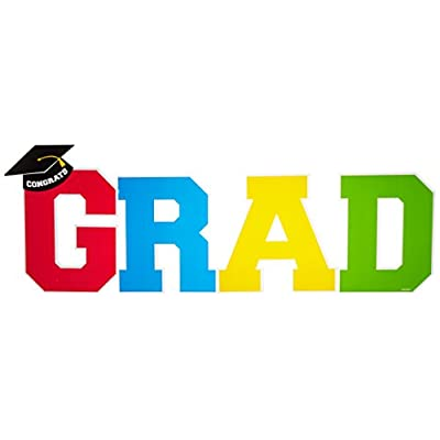 amscan Grad Multicolor Yard Stakes Set | Party Favor: Toys & Games