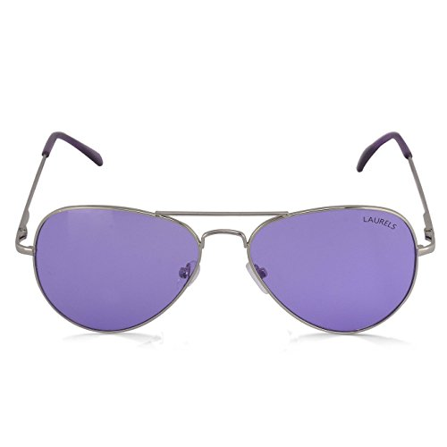 Laurels Eagle UV Protected Aviator Sunglasses – Purple Lens – Ls-Eag-140707