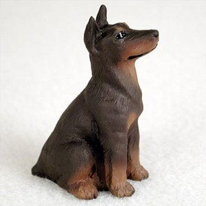 Doberman Pinscher Red w/Cropped Dog Figurine, Height Appr...
