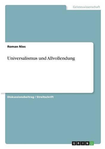Universalismus und Allvollendung