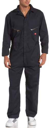 Dickies Men's 7 1/2 Ounce Twill Deluxe Long Sleeve Coverall, Dark Navy, X-Large Regular from Dickies