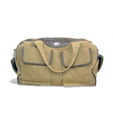 NCAA Georgia Southern Eagles Men's Canvas Concho Duffel Bag, Khaki, One Size by ZEP-PRO