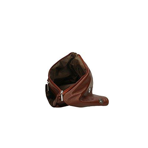 véritable en Italy Made Cm in Aren femme Marron à bandoulière 24x24x2 cuir Sac qwnIOSY