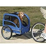 Solvit 62303 Track'r Bicycle Pet Trailer, Medium