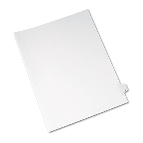 Avery Individual Legal Dividers Allstate Style, Letter Size X, Pack of 25 (82186)