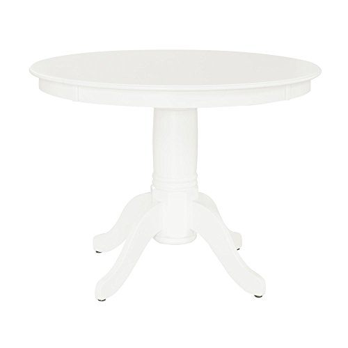 Aubrey 5 piece Traditional Height Pedestal Dining Set, White by Dorel Living (Image #3)