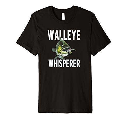 Walleye Whisperer Fishing Jigs Lures Tackle New Pro Walleye Premium T-Shirt