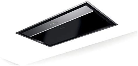 Faber ONYX-C - Campana extractora de techo (cristal negro y acero inoxidable, 90 cm): Amazon.es: Grandes electrodomésticos