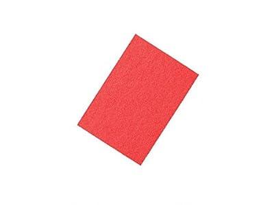 "Powr-Flite RD1420 Spray Buff Rectangular Pad for Floor Machine, 14"" Width x 20"" Length, Red (Pack of 5)"