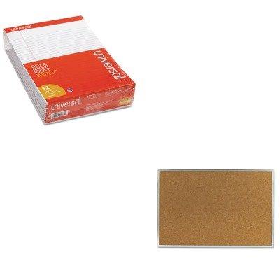 KITMEA85361UNV20630 - Value Kit - Quartet Cork Bulletin Board (MEA85361) and Universal Perforated Edge Writing Pad (UNV20630) by Quartet