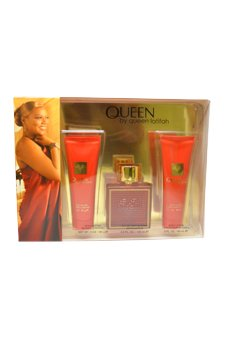 Queen by Queen Latifah for Women - 3 Pc Gift Set 3.4oz EDP Spray, 3oz Body Lotion, 3oz Body Butter by Queen Latifah