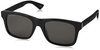 Amazon.com: Gucci GG0008S Sunglasses 002 Black / Grey