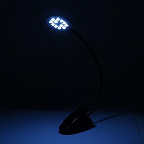DealMux DC 5V portátil Notebook Reading flexível Gooseneck Lâmpada Clipe Desk USB 12 LED Black Light - - Amazon.com