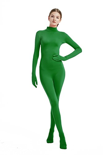 (Full Bodysuit Womens Costume Without Hood Lycra Spandex Stretch Zentai Unitard Body Suit (Large,)