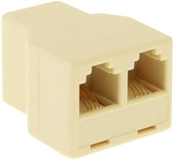 Internet Cable RJ11 Female to 2 Female Phone Splitter LAN Cable