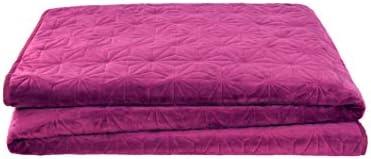 VCNY Home 2ピース ソリッドベルベットキルトセット ツイン ラズベリー ツイン ピンク SOL-2QT-TWIN-BB-RASBY