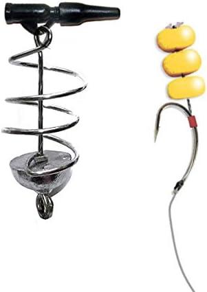 Carp Spring Feeder Lead Coil Inline Method Feeder Bait Coarse Fishing Tackle