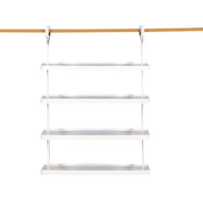 Rubbermaid Closet Shelves - Rubbermaid 1806115 Retrofit Closet Helper 4 Shelf Unit, White