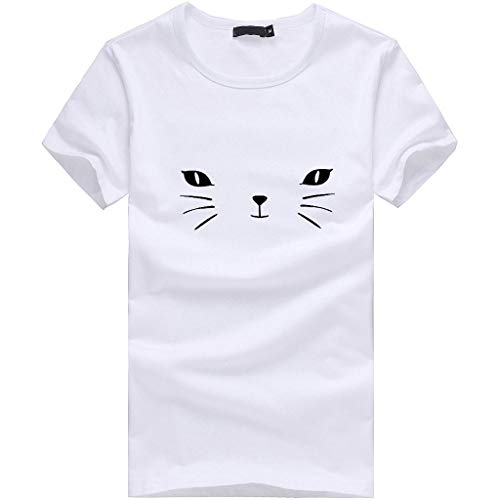 imprimés femmes manches courtes Chemise pour femmes Uni femme T Jiameng Heart Tops pour shirts pour de décontractés White imprimée shirts les T à mode SpwSg8Fq