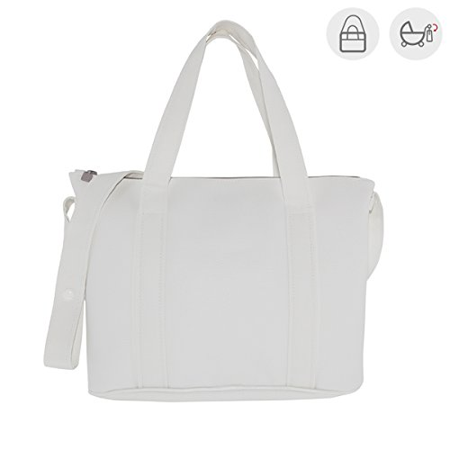 Cambrass Swarovski - Bolso maternal pocket, 10 x 42 x 30 cm, color blanco Blanco