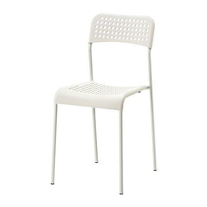 Sedie Acciaio E Plastica.Ikea Adde Sedia Impilabile Sedia In Plastica Con Struttura In