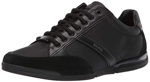 Hugo Boss BOSS Green Men's Saturn Profile Low Top Sneaker, Black, 10 M US from Hugo Boss